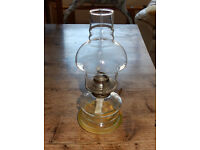 Glass Oil Lamp - ideal for outdoor use.