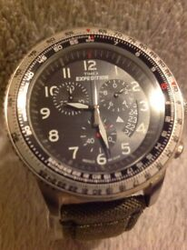 Timex expedition watch, as new with box, packaging instructions.