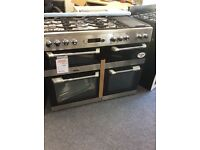 cuisinemaster 110cm dual fuel range stainless steel new