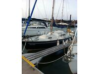 Sailing boat 23ft sloop