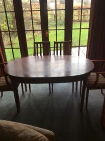 Dining table ( extendable ) and chairs x 4 solid wood