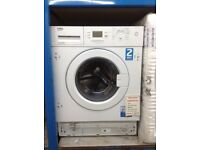 Beko intergrated 7kg 1500spin A++ energy rated washing machine. £269. New/graded 12 month Gtee