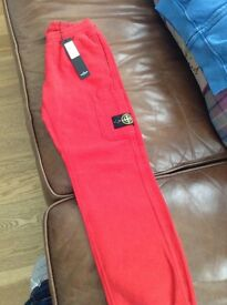 red stone island joggers
