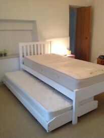 Single trundle bed, white, John Lewis Wilton, second single pulls out from underneath.