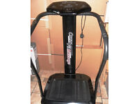 Crazy Fit Vibration Massage Machine Power Plate in Black with grips