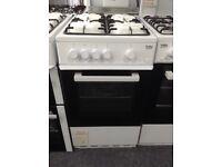Beko 50cm white single cavity gas cooker. £189 new/graded 12 month Gtee