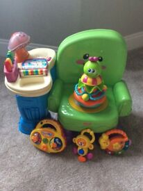Fisher price chair,, vtech tambour and radio