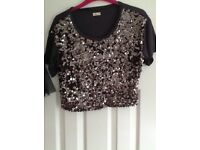 Hollister sparkly top