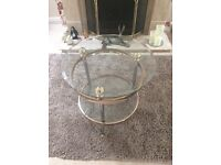 Coffee table with two matching lamp tables