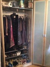 Ikea wardrobes and shelving. NOW GONE!!!