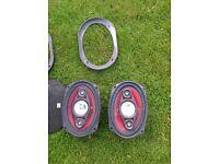 SPL 6x9 4 way speakers, 180 Watts, 4 ohms