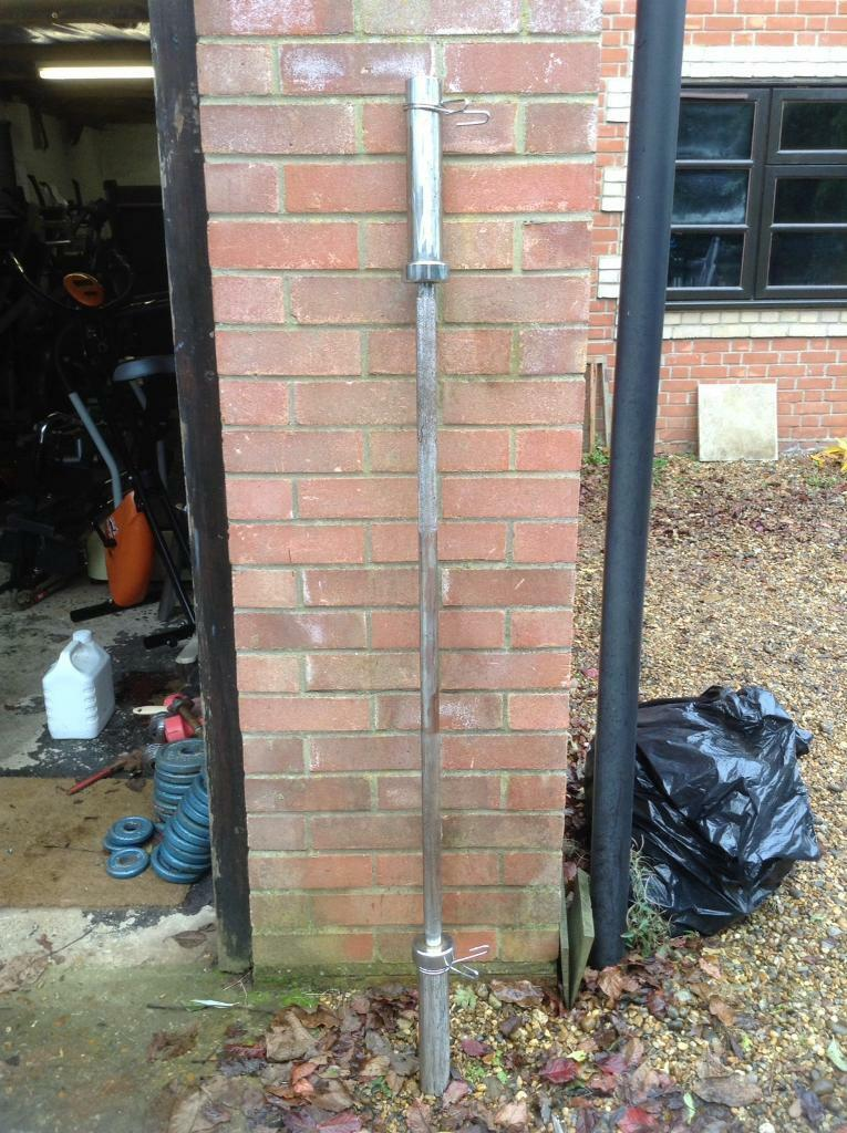 5FT Olympic Barbell with Clips