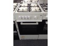 Beko white 50cm single cavity gas cooker. £189 new/graded 12 month Gtee