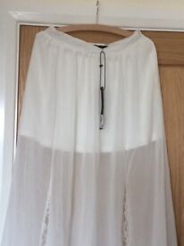 Ladies White Skirt