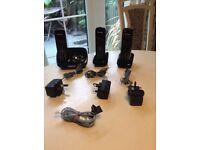 Black trio Panasonic home phones model KX-TG8522EB