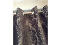 Grey luxurious Versailles curtains x 2 pairs un-used