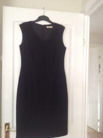 Black Précis Shift Dress Size 10