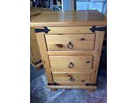 Hawton pine bedside cabinets