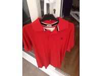 2 x men's polo shirts. Abercrombie and Fred Perry
