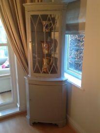 Corner cabinet . Hand painted