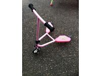 Baby pink fliker scooter
