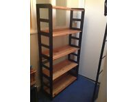 Floating shelving unit