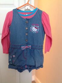 M&S GIRLS SHORTS & TOP SET AGE 2-3 YEARS