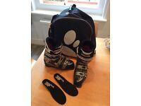 Salomon Ladies Ski Boots Size 25.0 UK 6/7 with Bootbag