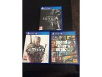 3 Game of the Year PS4 Games ( Witcher 3, GTA V, Skyrim)