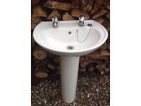 White ceramic pedestal /sink