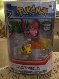 Pokemon X Y characters Pikachu & Vivillon brand new unopened
