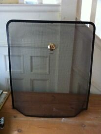 Black Mesh Metal Fireguard for Fireplace / Can Deliver