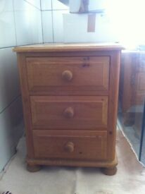 Pine bedside chests x 2