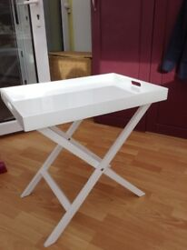 Butlers tray table. White gloss