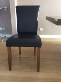 Dark brown faux leather Dining chairs