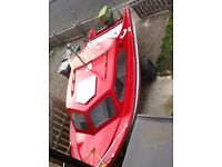 shetland 535 cabin boat fishing boat trailer 40hp johnson outboard