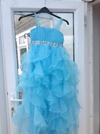 New blue girls formal dress