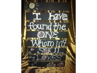 £12 EACH - VINTAGE RUSTIC WOODEN CRATE TRAY UPCYCLE WEDDING EVENT SIGN