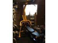 Good condition Powertec gym with additional leg raise and 200kg Olympic weights