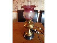 Brass electric lamp