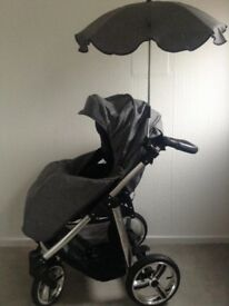 Venicii Pram and car seat. Rain covers and parasol included