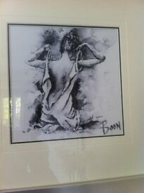 Gorgeous Figurative high quality print in silver frame