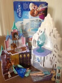 Disney frozen ice castle dolls house with frozen dolls