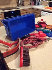 Children,s Horse Tack Box with accessories