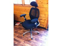 office chair with lumbar support, height adjustable handles,back,head rest...in amazon £154