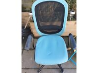 Blue and black computer chair