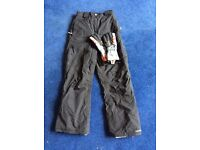 TRESPASS snow trousers and Burton gloves