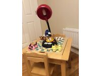 Kids games table and chairs with light