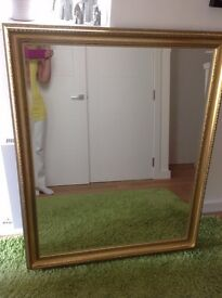 Gold Effect Large Mirror