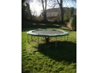 12ft trampoline with pads.